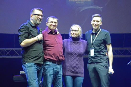Daniel Różański ze swoimi rodzicami