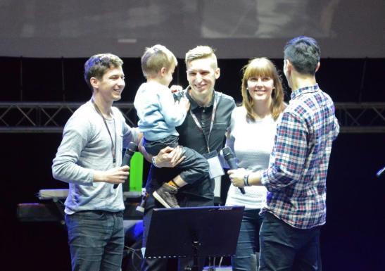 Daniel Różański ze swoją rodziną